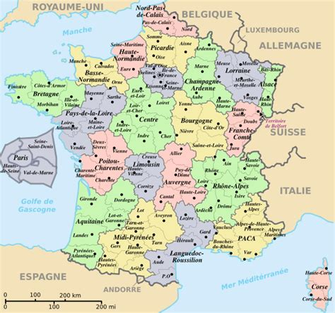 Carte De Et Region Et Departement by R 233 Gions Et D 233 Partements De Voyages Cartes