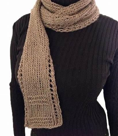 Scarf Knitting Lace Border Pattern Easy Beginner