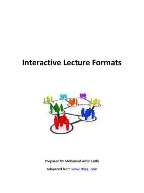 interactive lecture strategies lecture brainstorming