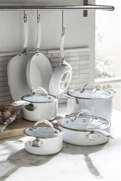 cookware kitchen pans pots glass ceramic pan stoves nonstick craft bridal shower clever bella sets decor cooking porcelain gift wedwithbliss