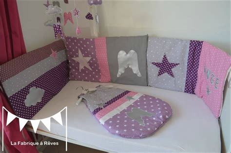 d o chambre violet gris turbulette gigoteuse douillette tour de lit bébé naissance