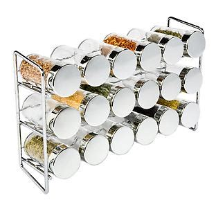 18 Jar Spice Rack by Chrome 18 Bottle Spice Rack Reviews The Container Store