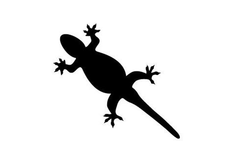 Free Lizard Silhouette Vector Download Now