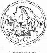 Dome Yosemite Park Half National Drawing Coloring Clipart Clip Illustrations Vector Drawings 52kb 1024px Getdrawings sketch template