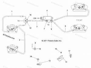 Polaris Side By Side 2014 Oem Parts Diagram For Brakes  Brake Lines  U0026 Master Cylinder