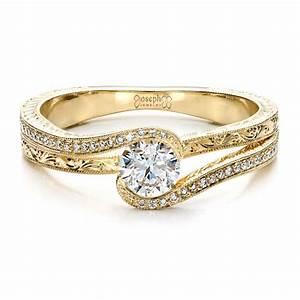 custom engraved diamond engagement ring 1472 With custom engraved wedding rings