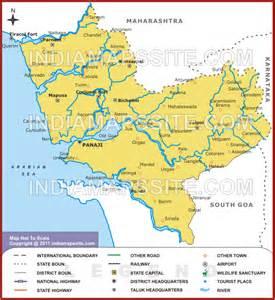 North Goa River Map, Map of North Goa River