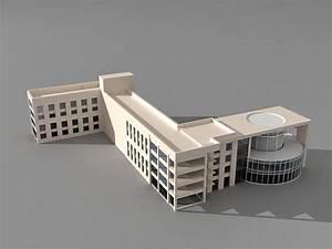 University college education building 3d model 3ds Max ...