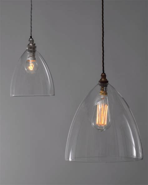 Clear glass pendant lights for kitchen island, clear glass