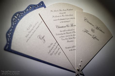 wedding fans collection creative  unique invitations