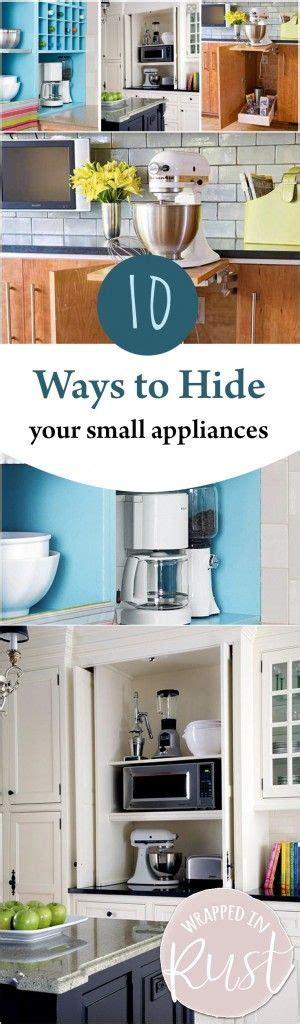 how to organize small kitchen appliances 10 ways to hide your small appliances kitchen 8774