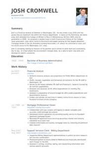 analyste financier exemple de cv base de donn 233 es des cv