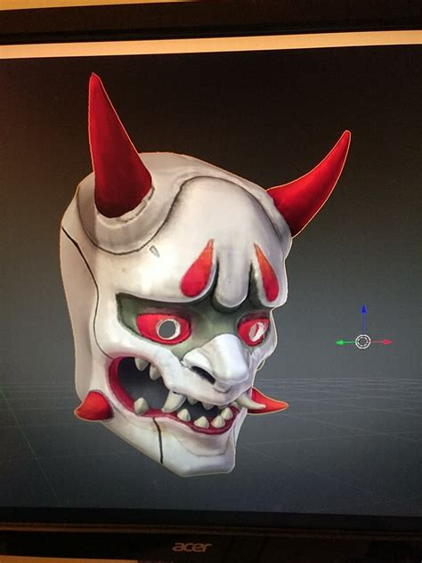call of duty 01 3d printed oni genji mask overwatch pic 1 htxt africa