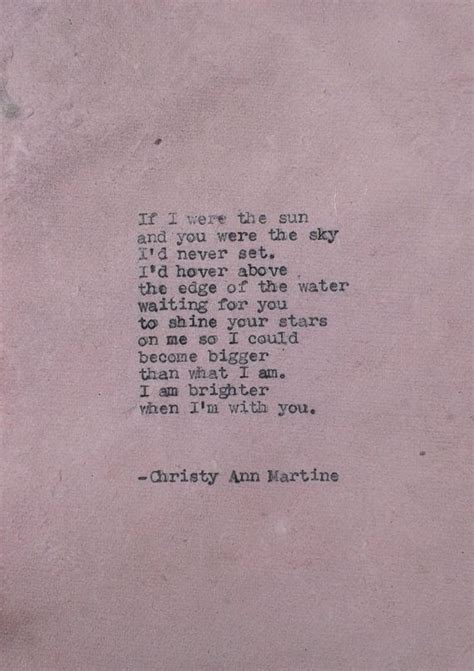 poetry     sun  christy ann martine