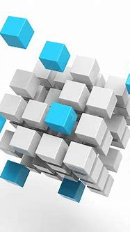 3d Cubes On White Background Stock Photo - Download Image ...