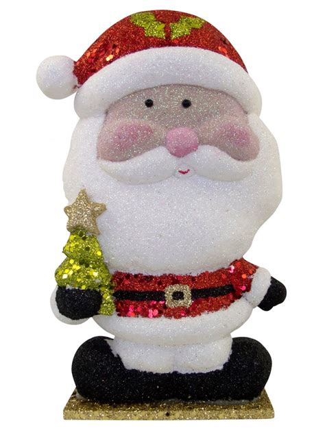 styrofoam santa ornament 21cm ornaments the
