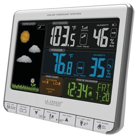 la crosse technology atomic clock with temperature best indoor outdoor wireless thermometer nwc