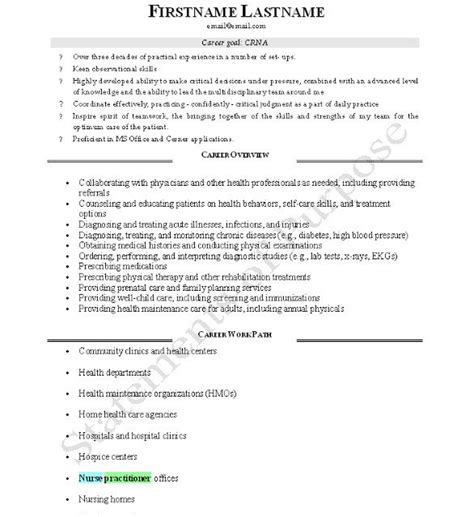 Crna Resume by Crna Cv Page 1 Best Resume And Cv Design