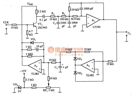 Sine Wave Output Circuit Composed The Basic