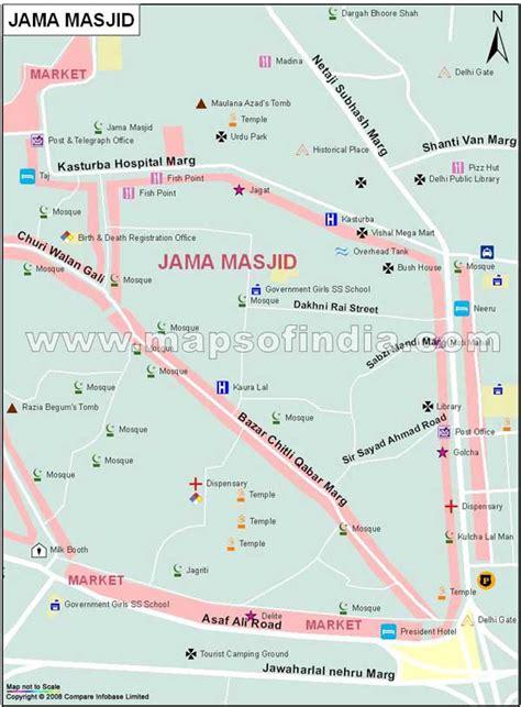 jama masjid map