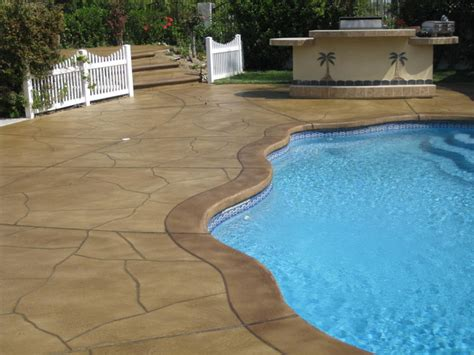 resurface pool deck with tile concrete resurfacing