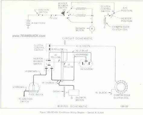 Buick Special Skylark Air Conditioner Wiring Diagram