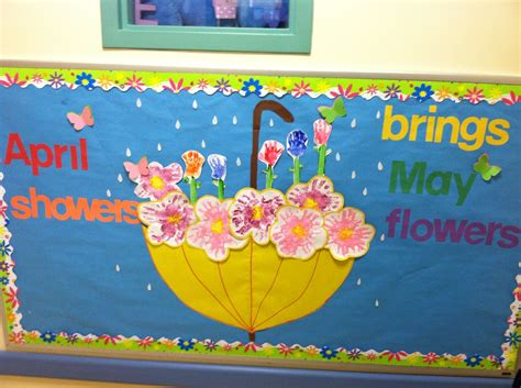 april showers bring may flowers bulletin board ideas april may bulletin board flowers made by prints