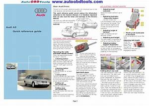 Audi A3 Quick Reference Guide Diagram User Manual