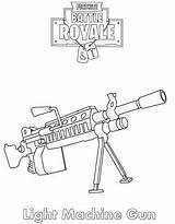 Fortnite Coloring Guns Weapon 2fa sketch template