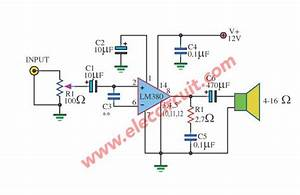 Lm380 Mini Size Amplifier Circuit 2 Watts