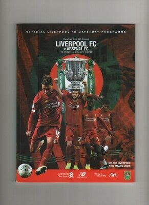 LIVERPOOL v ARSENAL, CARABAO CUP, 30/10/19, MINT CONDITION ...