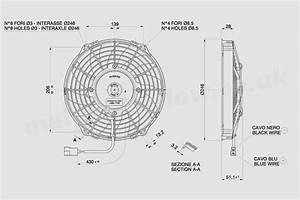 30100336a Spal 9 U0026quot   225mm  Cooling Fan Va07 C