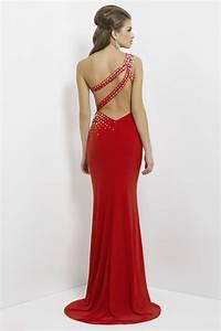 robe bal longue asymetrique ornee de strass avec fente With robe longue avec fente