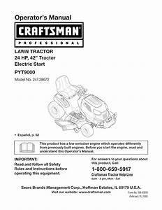 Craftsman Pyt 9000 Operators Manual
