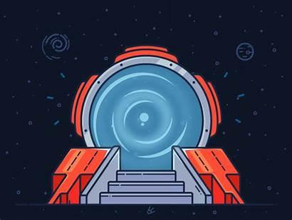 Portal Animation Login Illustration Animated Space Vector