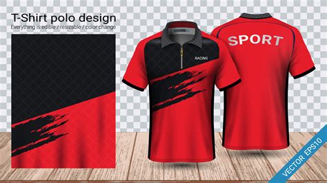 Casual sport clothes mockup set 5383783. Polo t-shirt design with zipper, Soccer jersey sport ...