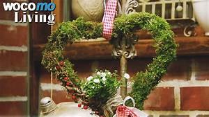 Basteln Mit Moos : herzen aus moos bastelideen vom land youtube ~ Watch28wear.com Haus und Dekorationen