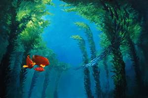 Garibaldis in Kelp Forest by k4Orta on DeviantArt