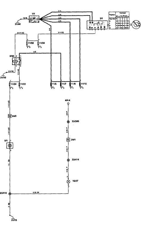 volvo 850 1996 1997 wiring diagrams cigar lighter