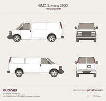 gmc sierra pickup truck blueprints  outlines