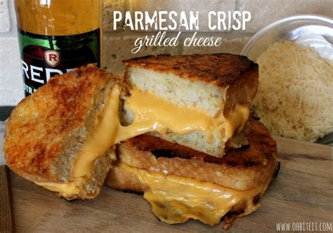 Parmesan Crisp Grilled Cheese!  Oh Bite It