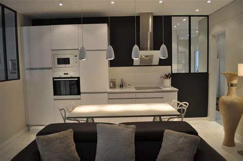 salon de cuisine appartement 3 pièces et fonctionnelle cuisine ouverte