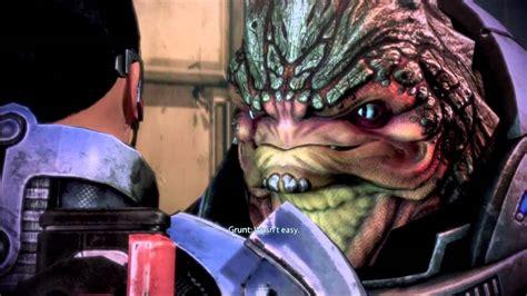 Mass Effect 3 Meeting Grunt Youtube