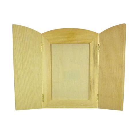 cadre photo bois a decorer cadre photo 224 volets rabattables en bois brut 224 d 233 corer