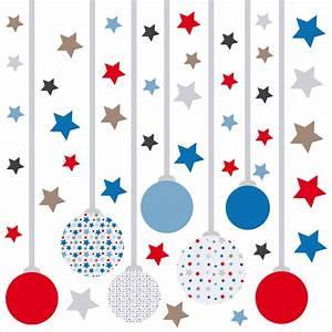 un sticker decoratif de noel avec ses boules et ses etoiles With chambre bébé design avec envoyer des fleurs pour noel