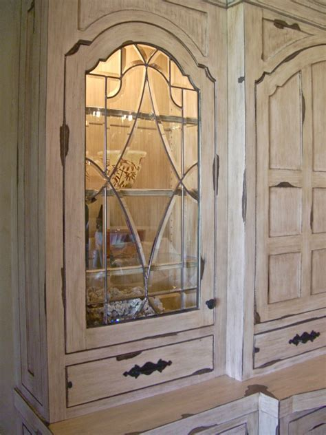 Traditional Leaded Glass Cabinet Inserts   Sans Soucie