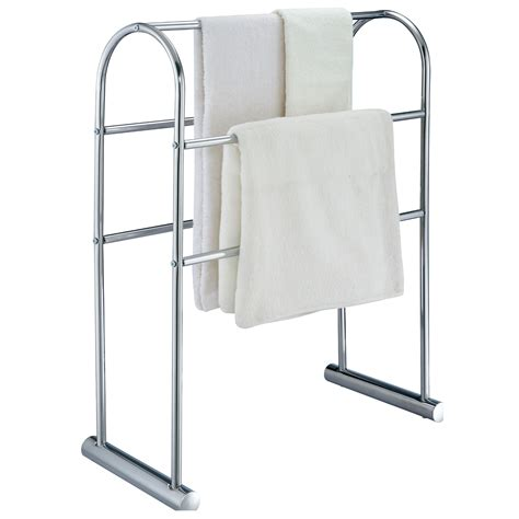 towel rack stand buy free standing quot cecil quot chrome towel stand rack
