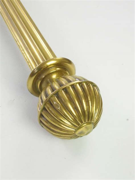large vintage brass curtain pole  rings