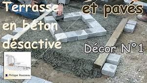 Comment Faire Du Beton : faire du b ton d sactiv et pose de pav s partie 3 ~ Melissatoandfro.com Idées de Décoration