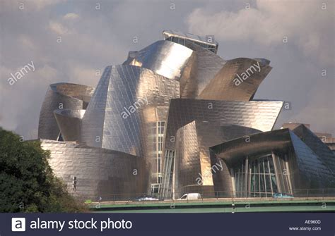 guggenheim museum of modern designed in titanium by american stock photo royalty free image